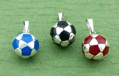 Silver Soccer Ball, Sterling Silver Soccer, Futbol Soccer Ball, Futbol Soccer Ball Charm, Dije Balon de Futbol, Ball Pendiente by Alyssasdreams on Etsy https://www.etsy.com/listing/220526099/silver-soccer-ball-sterling-silver