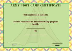 11 best boot camp certificate template images on pinterest in 2018 army boot camp certificate boot camp certificate templates envelope army gi joe maxwellsz