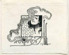 Art And Illustration, Graphic Design Illustration, Art Nouveau, Nouveau Tattoo, Walter Crane, Ex Libris, Gustav Klimt, Koloman Moser, Tattoos