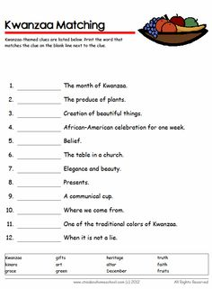 Kwanzaa Bingo Card Printables | Kwanzaa | Pinterest | Bingo ...