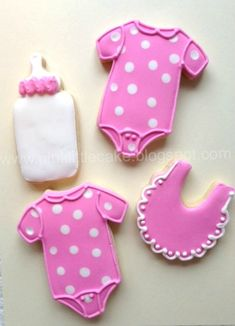 My Pink Little Cake: Baby Shower cookies for a boy and a baby girl