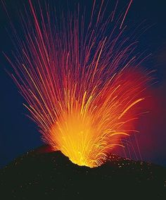Mount Etna, Sicily, Italy, started to erupt today , first time since 1992