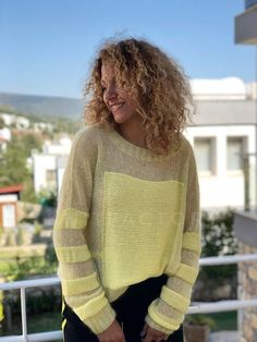 Knit Mohair sweater Loose oversize fit Quality mohair hand knit Wool sweater Striped sweater Ready to ship Hand knit pullover Yellow jumper – knitting sweaters diy Mohair Sweater, Loose Sweater, Wool Sweaters, Hand Knitting, Beginner Knitting, Knitting Patterns, Knitwear, Trending Outfits, Etsy