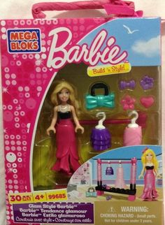 Mega Bloks Glam Style Barbie (30pc) BUILD'N STYLE #MEGABrands