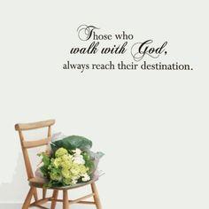 Те, Кто Ходят С Богом для стен виниловые наклейки домашнего декора гостиной украшения спальни обои цитатой