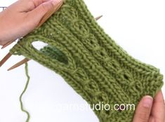 DROPS Knitting Tutorial: How to work thumb hole for the wrist warmers in...