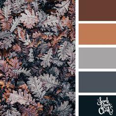 Fall leaves color palette | Цветовая палитра осенних листьев #fallcolorpalette #fall #colorscheme | Детская мебель на заказ в Москве | Фабрика детской мебели «Мамка™» | Лучшие цвета для детской - советы дизайнеров