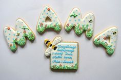 Mother's Day cookies with wishes