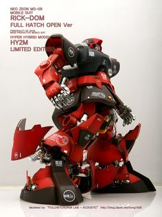 HY2M Limited Edition MS-09 Rick-Dom [Full Hatch Open Ver.] - Custom Build Modeled by Accoustics