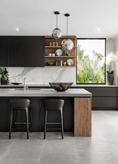 modern home interior design to your kitchen design Modern Home Interior Design, Luxury Kitchen Design, Luxury Kitchens, Kitchen Interior, Home Kitchens, Small Kitchens, Contemporary Kitchen Design, Luxury Interior, Küchen Design