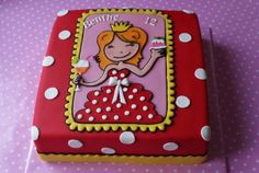 Discover recipes, home ideas, style inspiration and other ideas to try. Fondant Cupcakes, Cupcake Cakes, Amsterdam Christmas, Blond Amsterdam, Cake Illustration, Square Cakes, Colorful Cakes, Girl Cakes, Themed Cakes