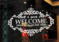 A SET OF  Custom Personalized Business Store Hours Vinyl Window Decal Sign Glass Door 16062801