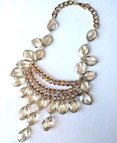 Collar ANGELIA Cristal checo champange