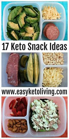 17 Keto Snacks On The Go Ideas - Easy Low Carb Ketogenic Diet Snacks for on the road, run, work or late night. Sweet and savory snack ideas that require little to no preparation. #ketosnacks paleo lunch on the go