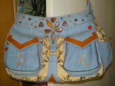 """Умей-ка!: Джинсовая сумка - модная """"штучка"""" своими руками. Ч..."""