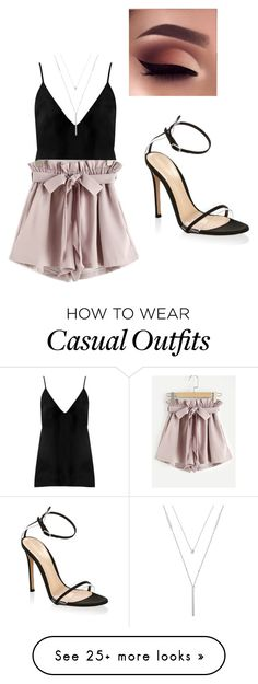 """Casual Chic Look"" by hayleydalton on Polyvore featuring Raey, LC Lauren Conrad, Gianvito Rossi, cute, Heels, casualoutfit and CasualChic"