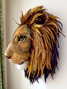 Needle Felted Aslan from Narnia by Richard Hanna. Quite possibly the best needle felted creation I've ever seen.