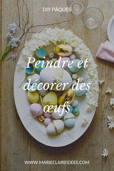 Votre table de Pâques se pare de couleurs pastels avec ces oeufs délicatement peints. Pastels, Birthday Cake, Sugar, Cookies, Desserts, Food, Diy Easter Decorations, Egg Hunt, Easter Table