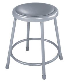 National Public Seating 6418CN Steel Stool with 18 Vinyl Upholstered Seat Grey Pack of 5 *** ** AMAZON BEST BUY ** #ClassicFurnitures
