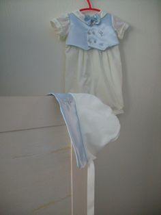 Baby Boy Baptism Outfit by secondtimememories on Etsy
