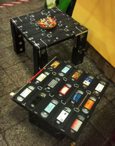 TABLE made from VHS tapes