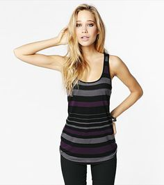 Stripe a pose! This racerback tank is perfect for pairing with jeans and a blazer #wishlist #dynholiday