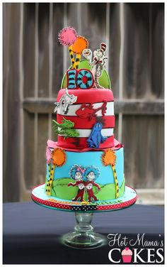 Dr Suess Themed Cake - Cake by Hot Mama's Cakes