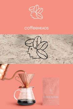 Branding for a coffee roasting company based in UAE. Design by LET'S PANDA, Vancouver. #coffee #head #logo #branding #letspanda Roasting Company, Coffee Roasting, A Boutique, Uae, Logo Branding, Packaging Design, Vancouver, Panda, Bloom