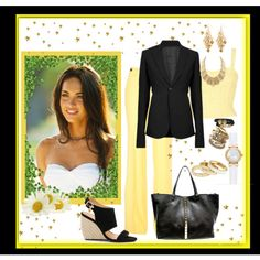 career outfit - yellow and black
