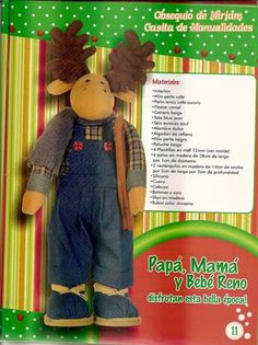 revistas de manualidades gratis Moose Crafts, Thing 1, Blog, Canvas, Molde, Ideas, Binder, Plushies, Navidad