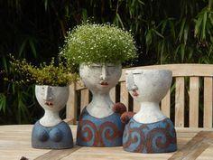 Risultato immagini per petra de jong-berger Pottery Pots, Ceramic Pottery, Ceramic Art, Face Planters, Ceramic Planters, Pottery Sculpture, Sculpture Clay, Sculptures Céramiques, Tadelakt