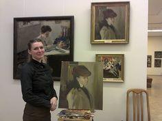"copying of Olexander Murashko ""Portrait of Olga Nesterova"" in National Art Museum of Ukraine, Kyiv// Олександр Мурашко // Александр Мурашко // II course I semester 2014-2015 year NAOMA"