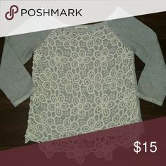 Monteau Sweater Great piece for fall and it has a crochet lace detailing on the front. Very pretty. Monteau Sweaters