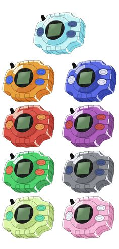 Digimon Adventure Digivices HQ + Base by NelaNequin