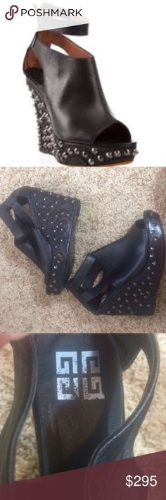 Givenchy studded booties Like new!! Only worn once. The studs and leather are all perfect!!!! They are a size 38 Givenchy Shoes