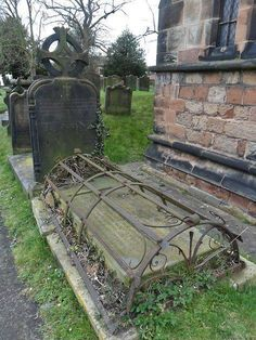 Victorian era grave cages meant to keep robbers out ........ or vampires in ???