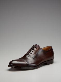 Antonio Maurizi Leather Brogued Cap Toe Oxfords