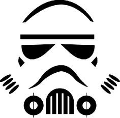 storm trooper stencil for white balloons.. :)