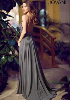 Jovani Beaded Top Dress 92605
