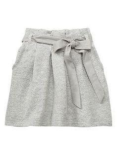 French terry herringbone skirt | Gap