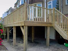 how to build raised decking on stilts - Google Search