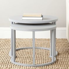 Safavieh Chindler Pearl Blue Grey Nesting Tables (Set of 2) | Overstock.com Shopping - Great Deals on Safavieh Coffee, Sofa & End Tables
