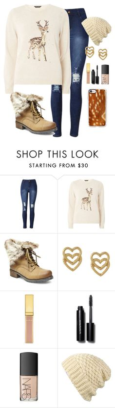 """""""Reindeer Sweater"""" by scstrong ❤ liked on Polyvore featuring Dorothy Perkins, Steve Madden, Mondevio, AERIN, Bobbi Brown Cosmetics, NARS Cosmetics, Dakine and Casetify"""