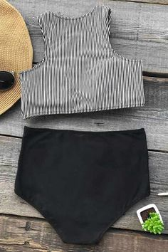 Let's enjoy the summer time. Product Code: Details: High-waisted fit With padding bra Special fabric Fabric: Chinlon,Elastane Reference: model try on SIZ Enjoy Summer, Summer Time, Striped One Piece, Bikini Outfits, Cute Bathing Suits, Clothing Photography, Cute Swimsuits, Lingerie, Bikini Photos