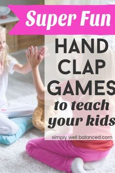 The absolute best list of hand clapping games for kids. Full of fun hand clap games, songs and rhymes perfect for brain breaks, ice breakers. Hand Clapping Games, Games For Kids, Activities For Kids, Braids For Kids, Kids Patterns, Brain Breaks, Kids Songs, Summer Kids, Happy Kids