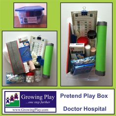 Pretend Play Box - Doctor Hospital, with Printables.