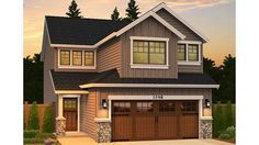 Home Plan HOMEPW19688 - 1590 Square Foot, 3 Bedroom 2 Bathroom Traditional Home with 2 Garage Bays | Homeplans.com