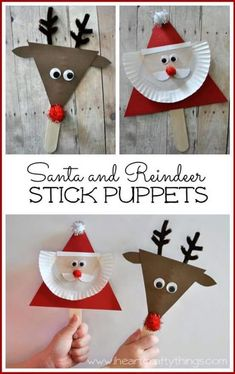 Santa and Reindeer Puppets