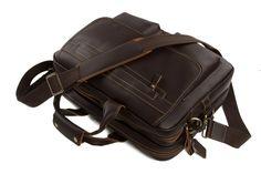Image of 15'' Handmade Genuine Cow Leather Briefcase / Laptop Bag / Men's Handbag 8951