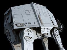 All-Terrain Armored Transport (AT-AT) by Ansel Hsiao on ArtStation. Imperial Walker, At At Walker, Lucas Arts, Star Wars Models, Star Wars Images, Original Trilogy, Star Wars Ships, Transportation, Empire
